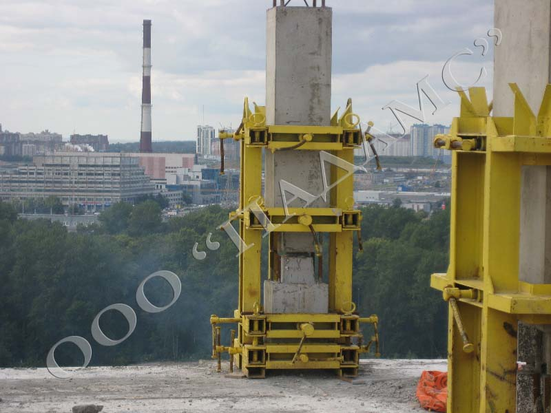 Кондуктор для монтажа железобетонных колонн
